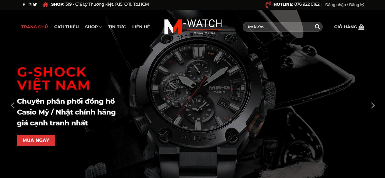 Thiết kế website bán đồng hồ.