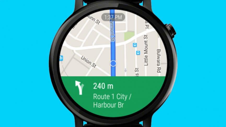 Đồng hồ thông minh liên kết với google map, cho phép bạn xem map mọi lúc mọi nơi